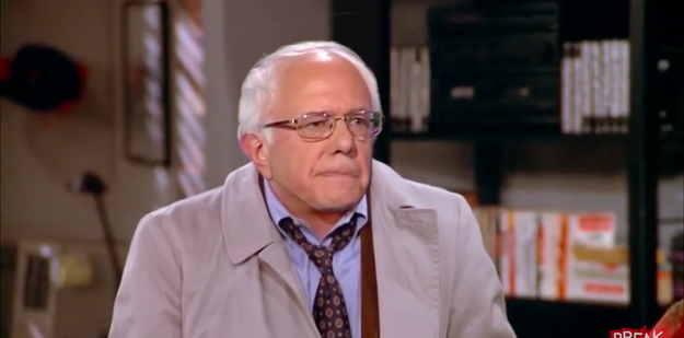 """Watch Bernie Sanders Play George Costanza In This Hilariously Weird """"Seinfeld"""" Mashup"""