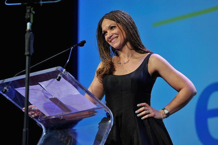 Melissa Harris-Perry at PFLAG National's eighth annual Straight for Equality awards gala on April 4, 2016 in New York City.