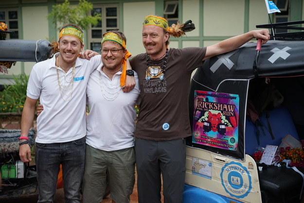 In an effort to raise funds for 50 orphans, Ernie Bergen, Daniel Künzle and Bram Schuurmann undertook an epic journey from Jaisalmer to Shillong.