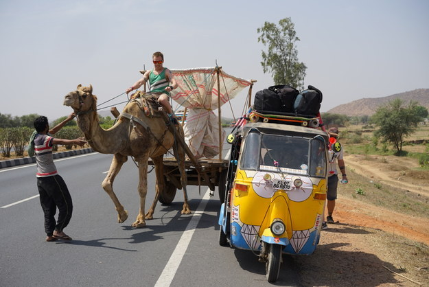 The three men had been adding live updates to their blog, indicating where they'd reached, how many times their rickshaw broke down, and all the adventures along the way.