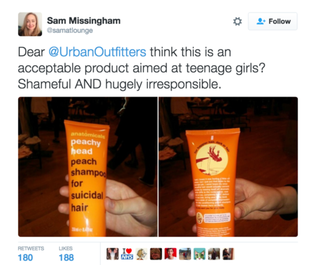 "A Shampoo For ""Suicidal Hair"" Has Been Pulled From Shelves In Urban Outfitters"