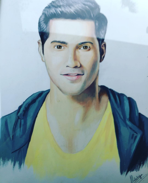 Varun Dhawan got some fan art which was sweet, but not as on-point as one would have liked.