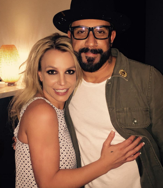 Britney Instagrammed a pic with AJ McLean back in February.