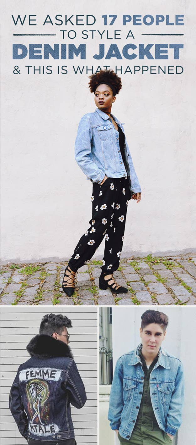 582a5e2d876e We Asked 17 People To Style A Denim Jacket And The Results Are Badass