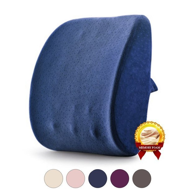 ~Lean in~ to a memory foam lumbar pillow on your desk chair.