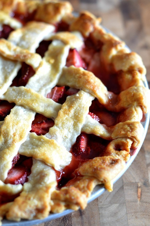 Strawberry Pie with Brown Sugar and Lemon