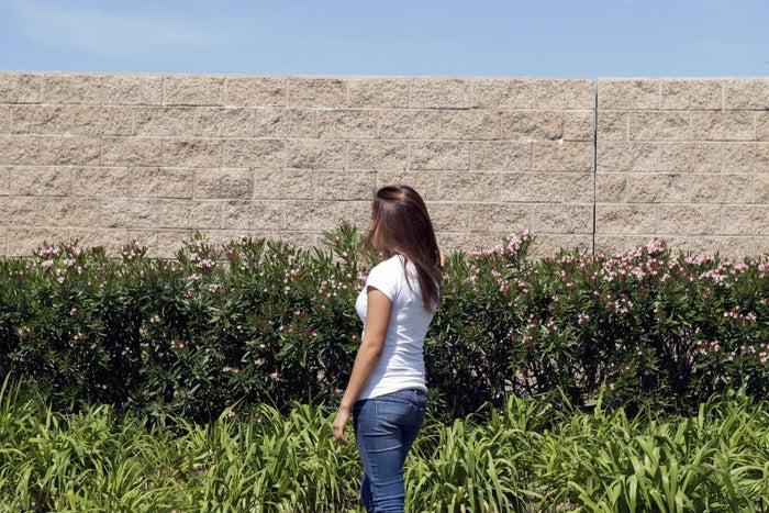 Yeisy in near her home in Wilmington, California.