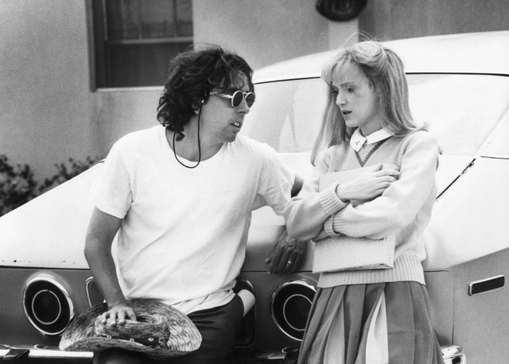 El director Tim Burton y Winona Ryder, Edward Scissorhands.