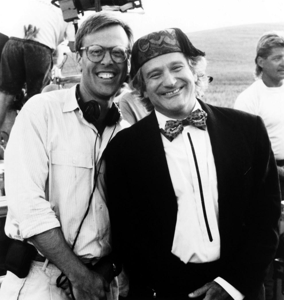 El productor Mark Johnson y Robin Williams, Toys.