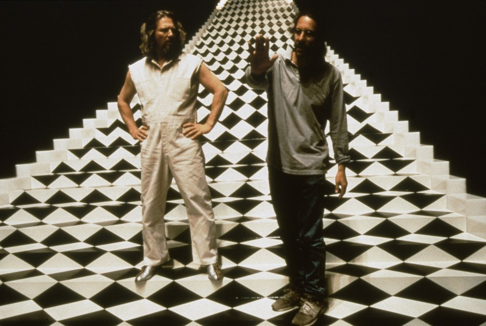 Jeff Bridges y el director Joel Coen, The Big Lebowski.
