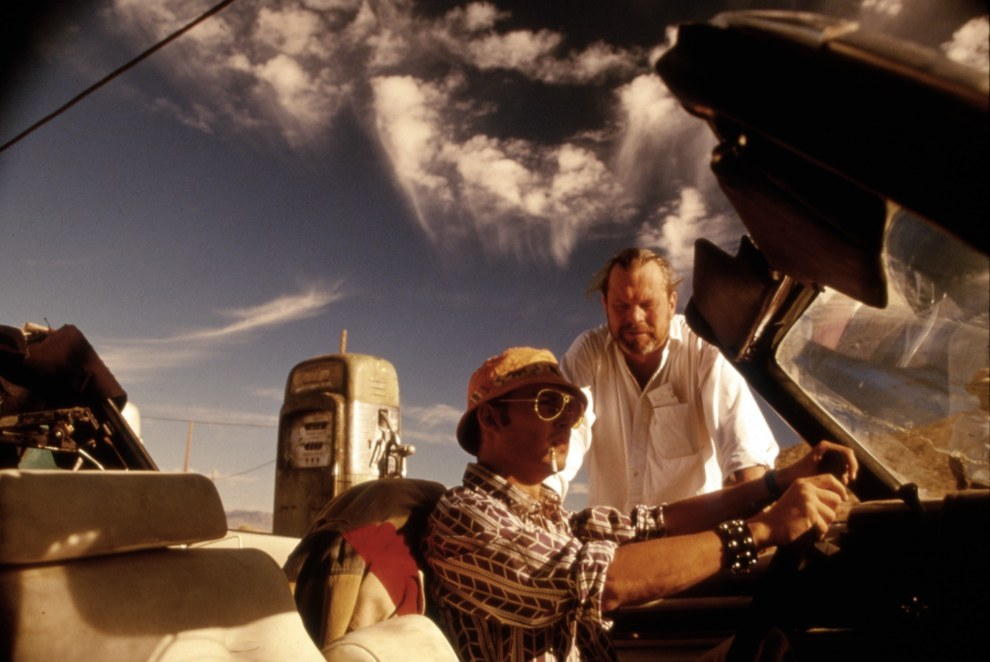 Johnny Depp y el director Terry Gilliam, Fear and Loathing In Las Vegas.