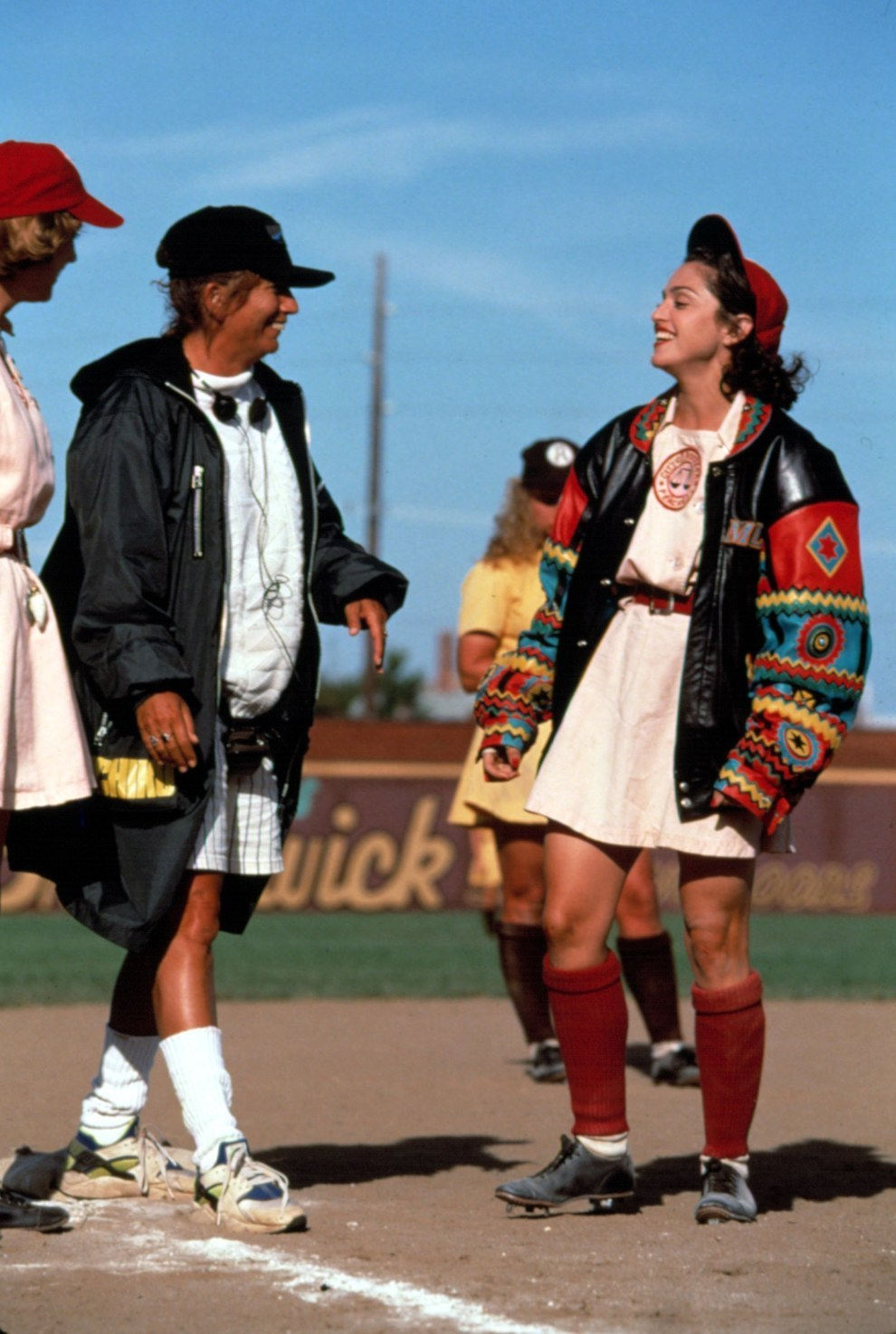 El director Penny Marshall y Madonna, A League of Their Own.