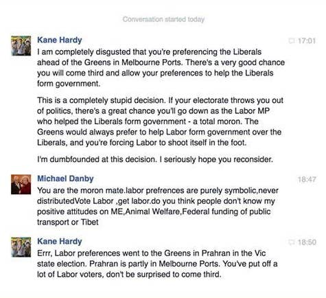Labor MP Says His Preferences Are