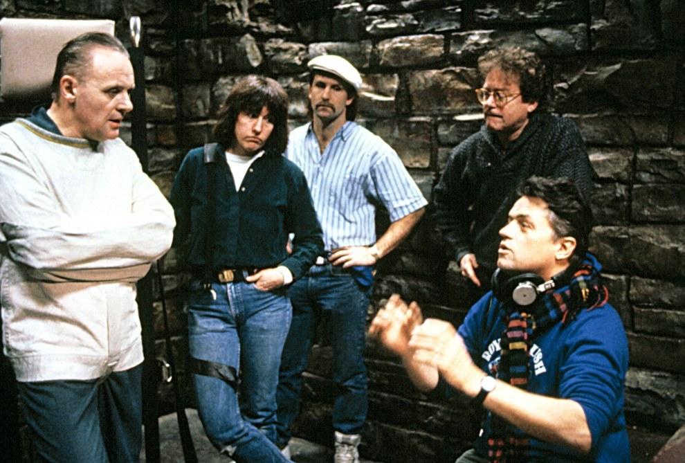 Anthony Hopkins (izquierda) y el director Jonathan Demme (derecha), The Silence of the Lambs.
