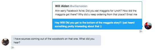 I shared Will Alden's tweet in a DM to Will Alden.