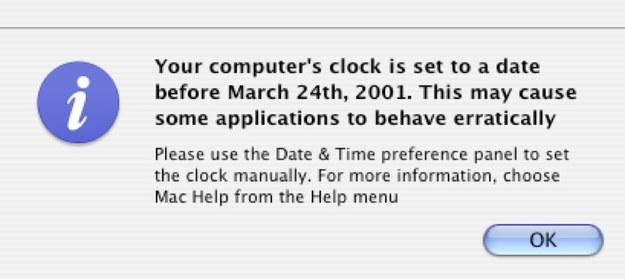 Yes. I would ride the nostalgia train back to 2001 and spend an entire day working on this old iMac. I started the computer and first encountered this warning: