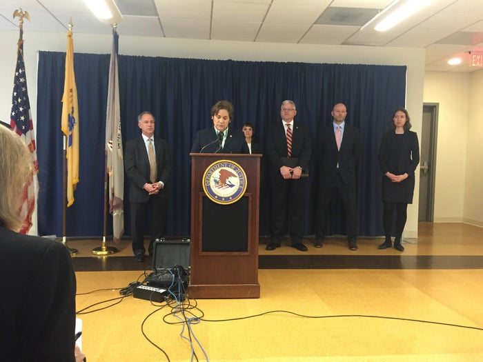 Sarah Saldaña, the director of Immigration and Customs Enforcement, at a press conference Tuesday.