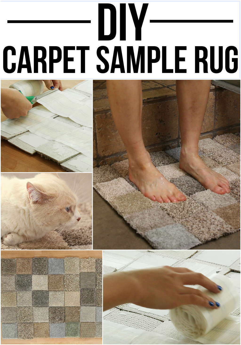 You Can Make A Rug Out Of Carpet Samples And It S Incredible