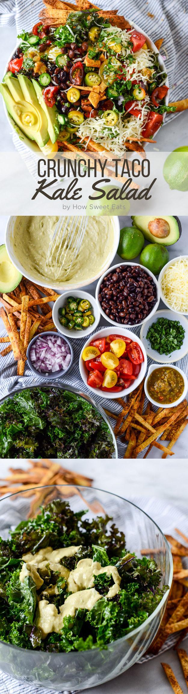 Crunchy Taco Kale Salad