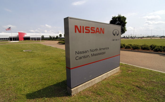 The Nissan auto manufacturing facility in Canton, Mississippi.