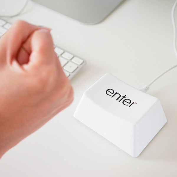 Get the stress out by banging a giant enter key (that actually works!).