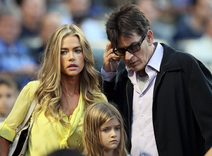 Denise Richards and Charlie Sheen in 2012.