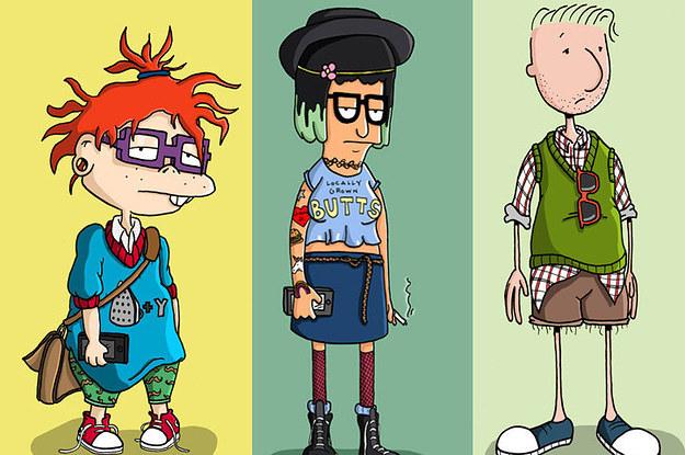 Zeichentrick Figuren