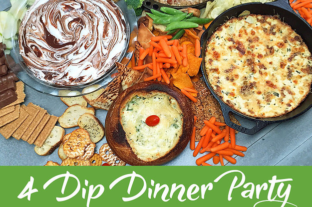 Here's How To Make A Super Tasty Four-Course Dip Dinner