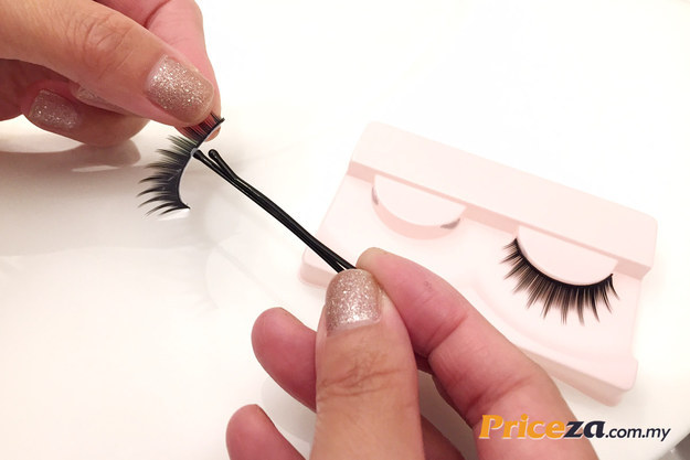 Image result for Apply eyelash glue to false lashes with the tip of a clean bobby pin