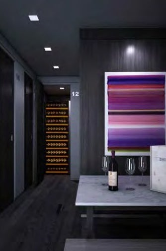 A temperature-controlled wine cellar
