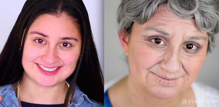 """""""No prosthetics or special effects were used to create their looks — just simple cream foundations and eye pencils,"""" Nadia said."""