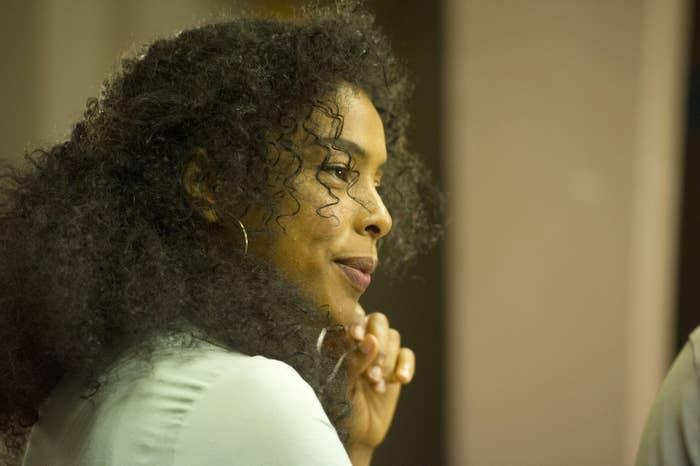 Sophie Okonedo as Maya Cobbina in BBC1's Undercover.