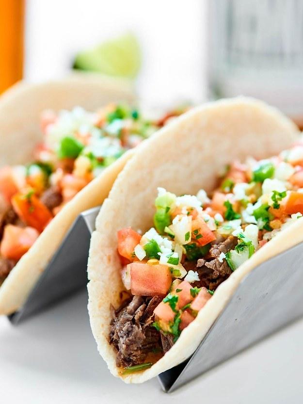 Slow Cooker Carne Asada Tacos