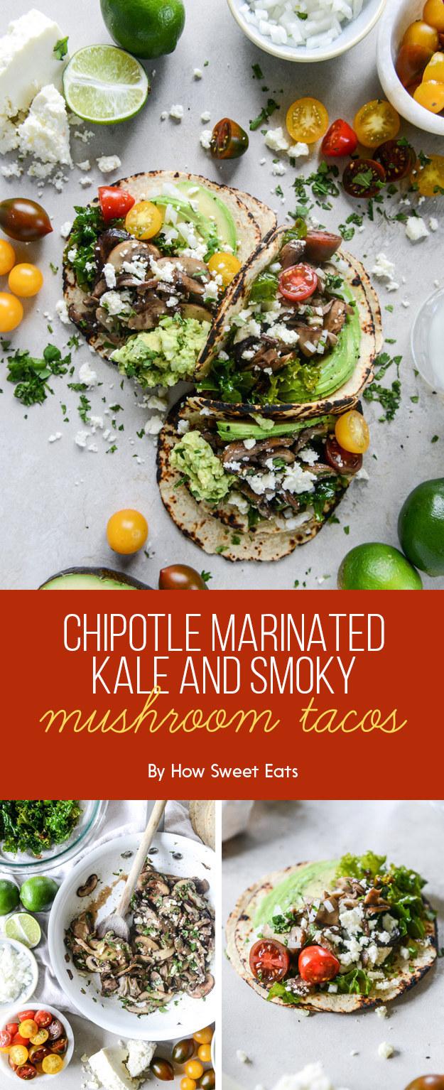 Chipotle-Marinated Kale and Smoky Mushroom Tacos
