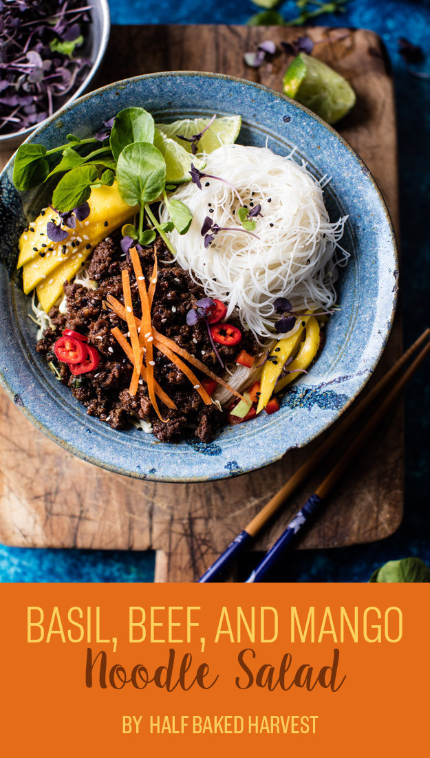 Basil, Beef, and Mango Noodle Salad