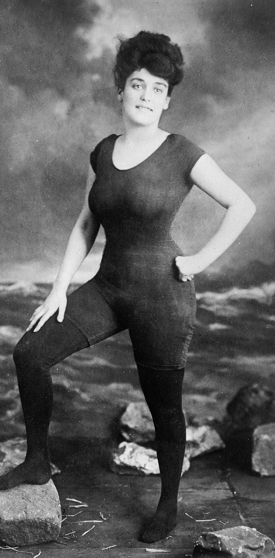 Annette in her scandalous bathing costume.