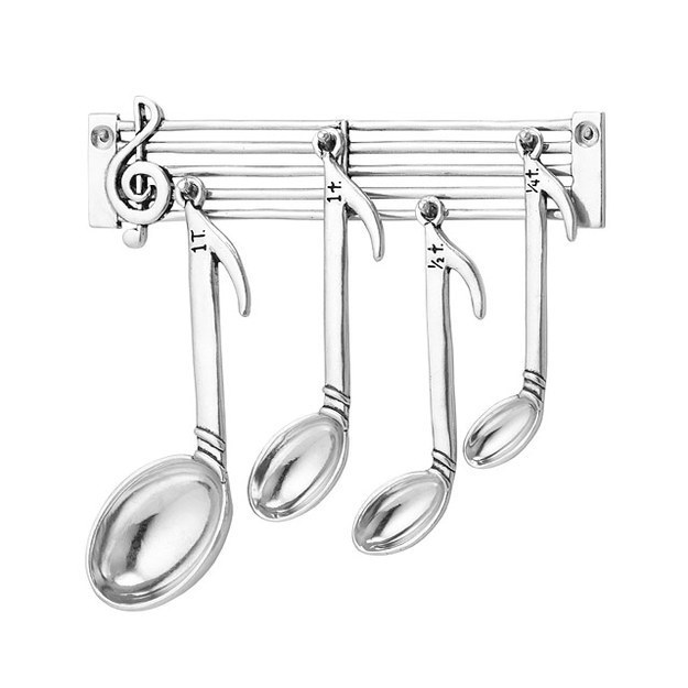 These eighth notes disguised as measuring spoons that'll let you cook up some ~treble.~