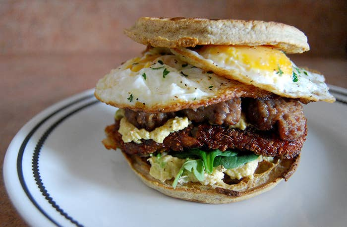 Filed under: The best way to combine frozen sausage patties and hash browns. Make it like this.