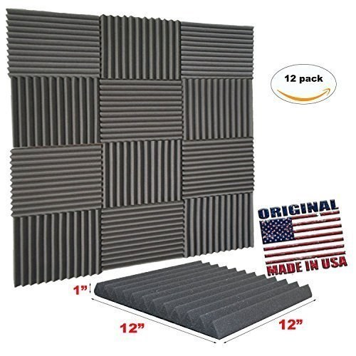 These soundproofing foam wall tiles that'll solve the blasting-music-through-thin-walls problem your roommates and neighbors are always complaining about.