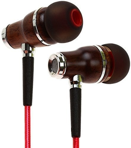 This chic noise-reducing earbuds made with natural wood for higher quality bass and acoustics.