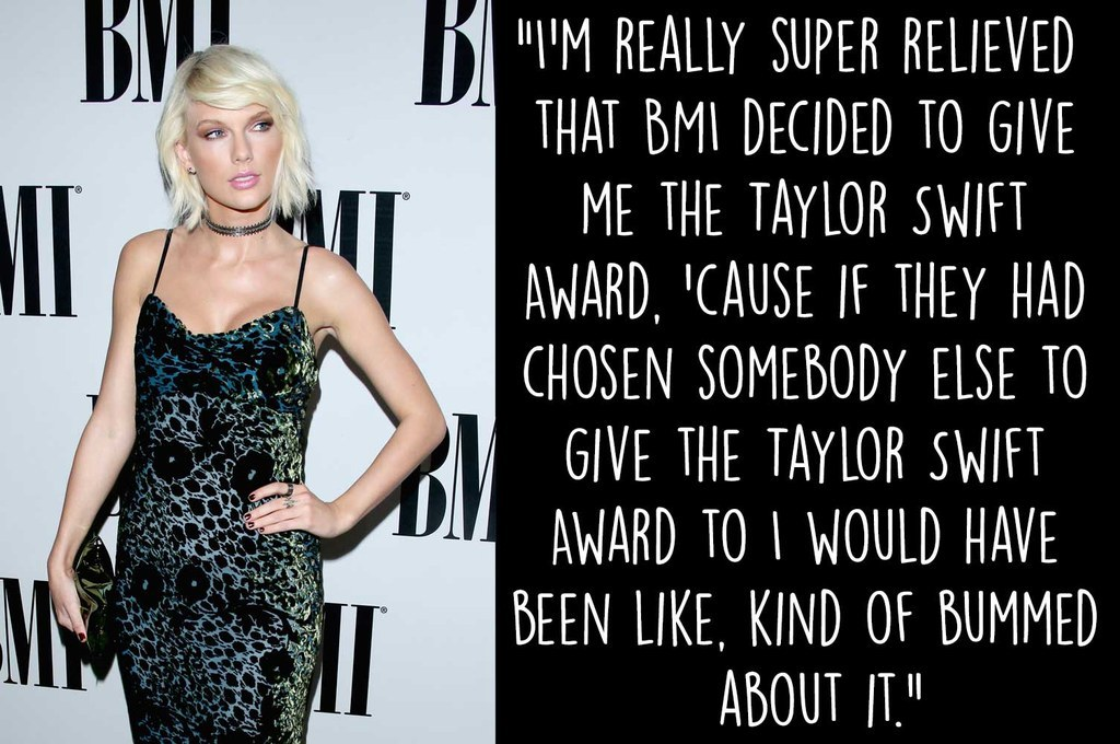 Taylor Swift Just Won The World S First Taylor Swift Award Obviously
