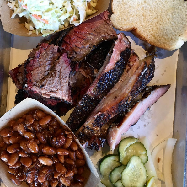 """""""This brisket doesn't need sauce. Seriously legit BBQ! Texans in SC should make sure they try this place."""" —Chris M.""""A range of barbecue sauces were in front of me, but the brisket didn't need it. Juicy and tender. The only reason I used the knife was to prevent myself from sticking the whole slice of brisket in my mouth."""" —Stasj T."""