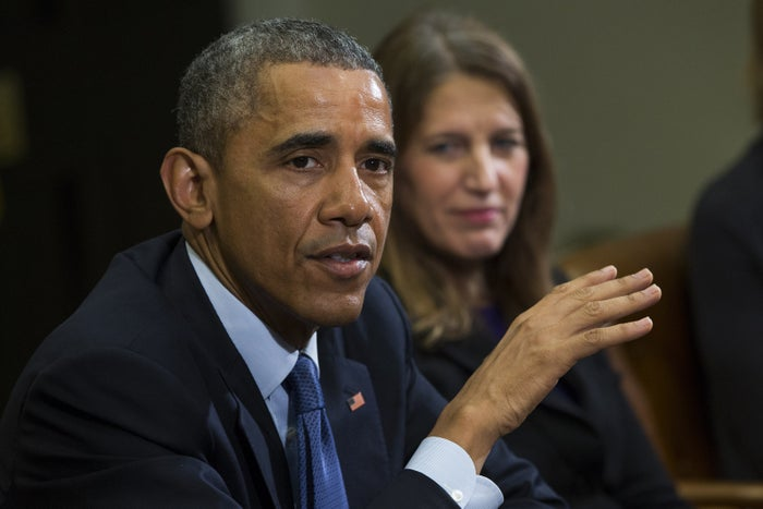 Secretary of Health and Human Services Sylvia Mathews Burwell, right, and Barack Obama.