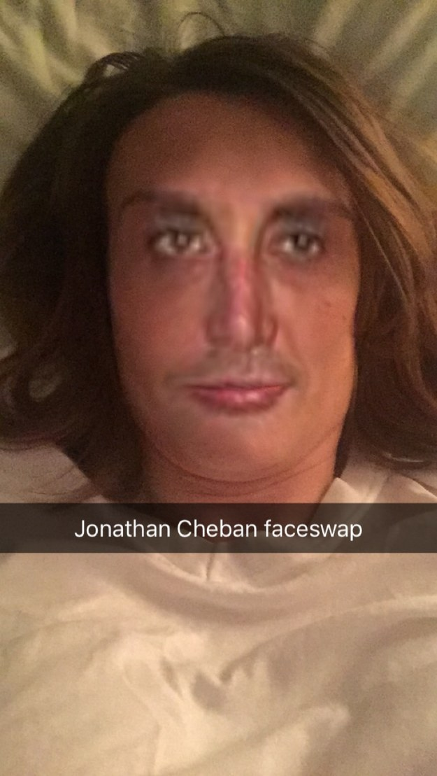 Look at this pic of me faceswapped with Jonathan Cheban! Tell me this isn't the thing nightmares are made of! It's a horror machine and I love it!