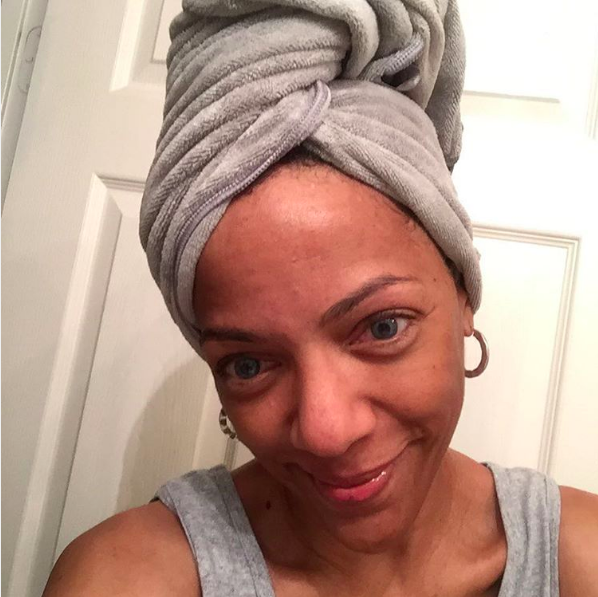 The texture of regular terrycloth towels can rough up the hair cuticle, while microfiber towels will just absorb moisture without ruining your hair's texture. You can also use a cotton T-shirt instead. You can try this microfiber towel from DevaCurl that's big enough to wrap up your hair after your shower.