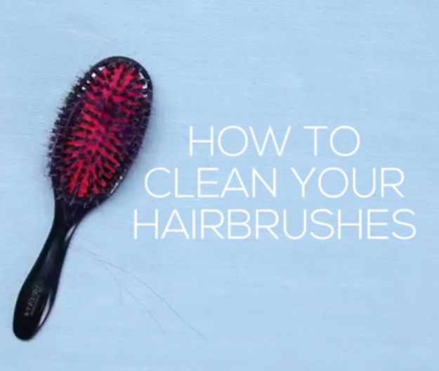 Clean and shampoo your hairbrushes to avoid unnecessarily dispersing excess oils into your hair.