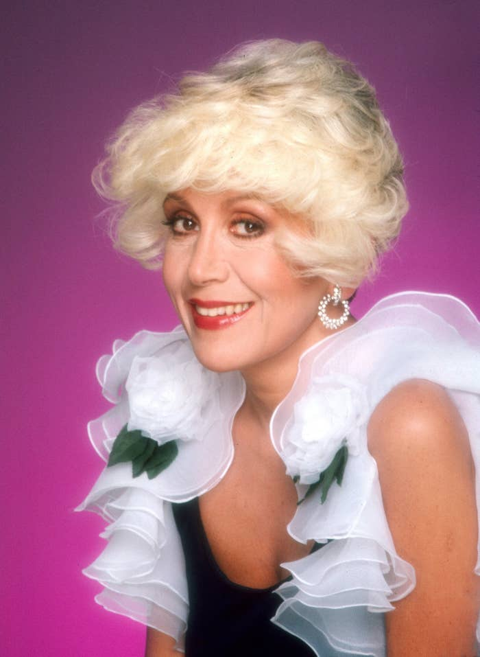 Columnist Rona Barrett poses for a portrait in 1980.
