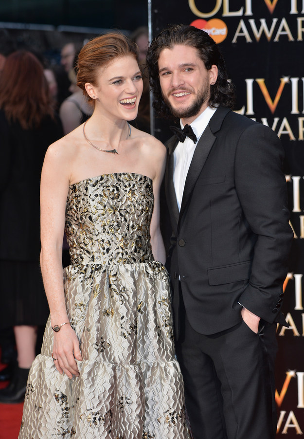 Well, because the Lord of Light is good, they're now dating in real life! And in an interview with Vogue Italia, Kit Harington said some truly adorable things about his relationship with Rose Leslie.