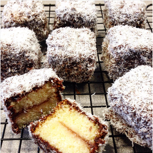 Lamingtons are layers of sponge cake coated in chocolate and rolled in coconut and they're basically the best thing you could get in your lunchbox. They make Little Debbie look like she needs to retire from the baked goods industry.