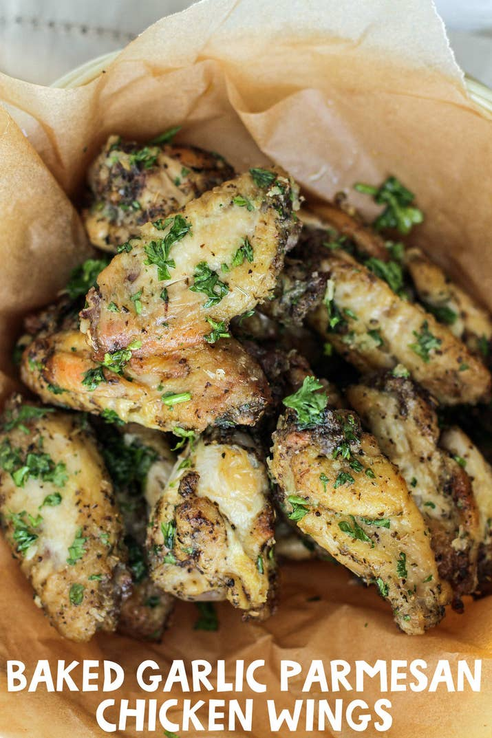 This recipe for garlic parmesan wings is perfect for chicken wing lovers baked garlic parmesan chicken wings share on facebook share forumfinder Images
